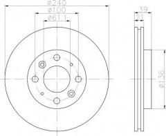 Комплект тормозных дисков TEXTAR 92110300 (2 шт.)