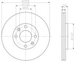Комплект тормозных дисков TEXTAR 92111503 (2 шт.)