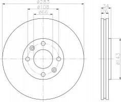 Комплект тормозных дисков TEXTAR 92111603 (2 шт.)