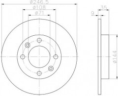 Комплект тормозных дисков TEXTAR 92111703 (2 шт.)
