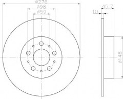 Комплект тормозных дисков TEXTAR 92114700 (2 шт.)