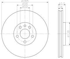 Комплект тормозных дисков TEXTAR 92115000 (2 шт.)