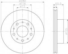 Комплект тормозных дисков TEXTAR 92116603 (2 шт.)