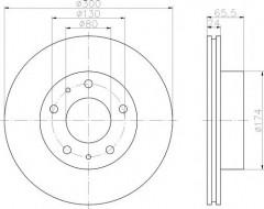 Комплект тормозных дисков TEXTAR 92116703 (2 шт.)