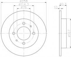 Комплект тормозных дисков TEXTAR 92117103 (2 шт.)