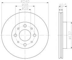Комплект тормозных дисков TEXTAR 92118003 (2 шт.)
