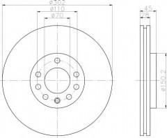 Комплект тормозных дисков TEXTAR 92118303 (2 шт.)