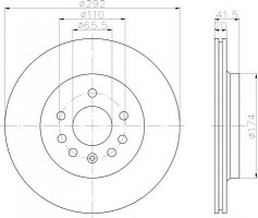 Комплект тормозных дисков TEXTAR 92118403 (2 шт.)