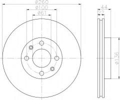 Комплект тормозных дисков TEXTAR 92119203 (2 шт.)