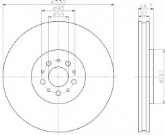 Комплект тормозных дисков TEXTAR 92119600 (2 шт.)