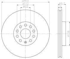 Комплект тормозных дисков TEXTAR 92120503 (2 шт.)