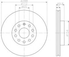 Комплект тормозных дисков TEXTAR 92120805 (2 шт.)