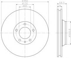 Комплект тормозных дисков TEXTAR 92121805 (2 шт.)