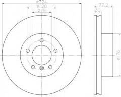 Комплект тормозных дисков TEXTAR 92122603 (2 шт.)