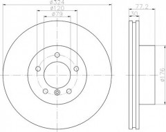Комплект тормозных дисков TEXTAR 92122605 (2 шт.)