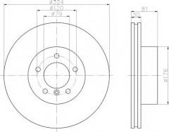 Комплект тормозных дисков TEXTAR 92122800 (2 шт.)
