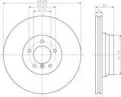 Комплект тормозных дисков TEXTAR 92122905 (2 шт.)