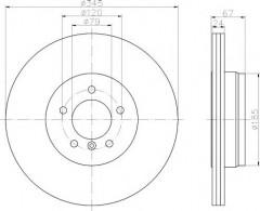 Комплект тормозных дисков TEXTAR 92123203 (2 шт.)