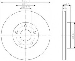 Комплект тормозных дисков TEXTAR 92124800 (2 шт.)