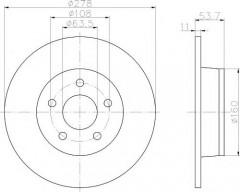 Комплект тормозных дисков TEXTAR 92124900 (2 шт.)