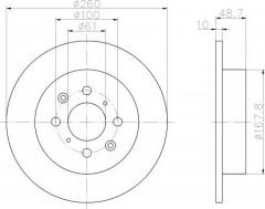 Комплект тормозных дисков TEXTAR 92125300 (2 шт.)