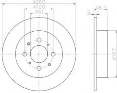 Комплект тормозных дисков TEXTAR 92125403 (2 шт.)
