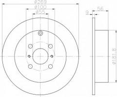 Комплект тормозных дисков TEXTAR 92126203 (2 шт.)