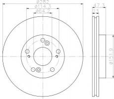 Комплект тормозных дисков TEXTAR 92128400 (2 шт.)
