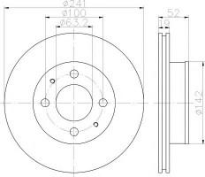 Комплект тормозных дисков TEXTAR 92128500 (2 шт.)