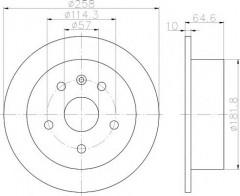 Комплект тормозных дисков TEXTAR 92128900 (2 шт.)