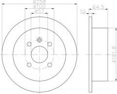 Комплект тормозных дисков TEXTAR 92129000 (2 шт.)