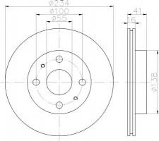 Комплект тормозных дисков TEXTAR 92129100 (2 шт.)