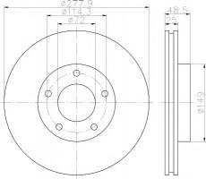 Комплект тормозных дисков TEXTAR 92130303 (2 шт.)