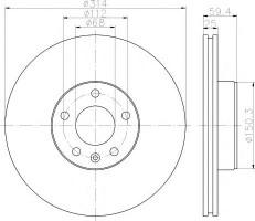 Комплект тормозных дисков TEXTAR 92132200 (2 шт.)