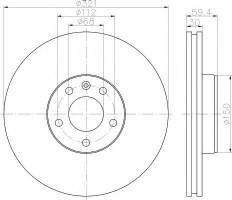 Комплект тормозных дисков TEXTAR 92132305 (2 шт.)
