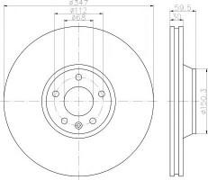 Комплект тормозных дисков TEXTAR 92132400 (2 шт.)