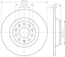Комплект тормозных дисков TEXTAR 92132503 (2 шт.)