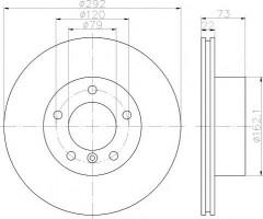 Комплект тормозных дисков TEXTAR 92132805 (2 шт.)