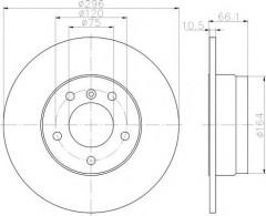 Комплект тормозных дисков TEXTAR 92133103 (2 шт.)