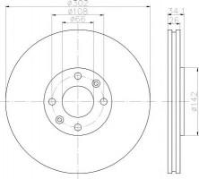 Комплект тормозных дисков TEXTAR 92133203 (2 шт.)