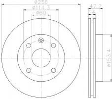 Комплект тормозных дисков TEXTAR 92133600 (2 шт.)
