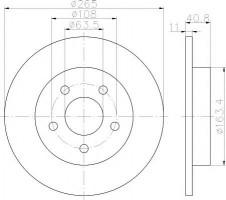 Комплект тормозных дисков TEXTAR 92133703 (2 шт.)