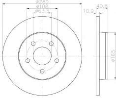 Комплект тормозных дисков TEXTAR 92133803 (2 шт.)