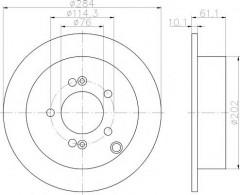 Комплект тормозных дисков TEXTAR 92134000 (2 шт.)