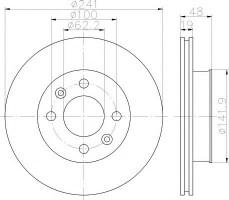 Комплект тормозных дисков TEXTAR 92134100 (2 шт.)