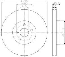 Комплект тормозных дисков TEXTAR 92135603 (2 шт.)