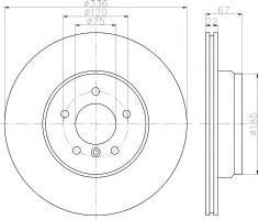 Комплект тормозных дисков TEXTAR 92137903 (2 шт.)