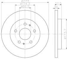 Комплект тормозных дисков TEXTAR 92138200 (2 шт.)