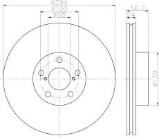 Комплект тормозных дисков TEXTAR 92139500 (2 шт.)