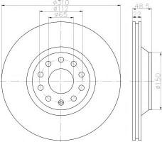Комплект тормозных дисков TEXTAR 92140703 (2 шт.)